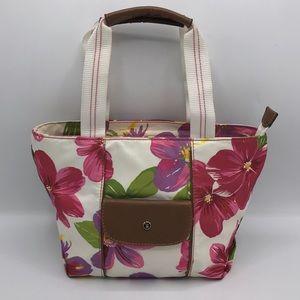 Liz Claiborne Floral Zip Tote Shoulder Bag